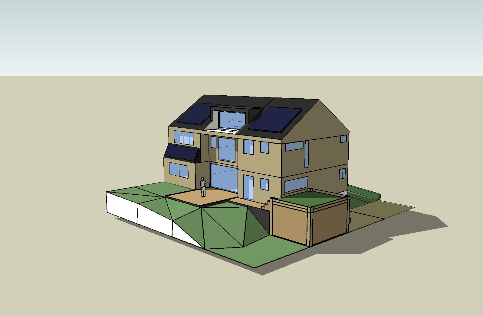 Concours vos r alisations sketchup cr a forum geekzone for Modele maison sketchup
